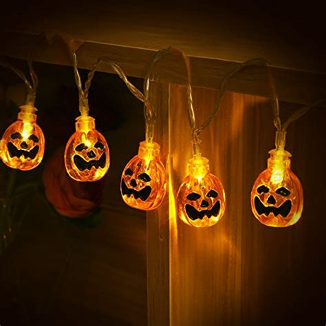 pumpkin light yunlights string lights 13ft 30 led waterproof