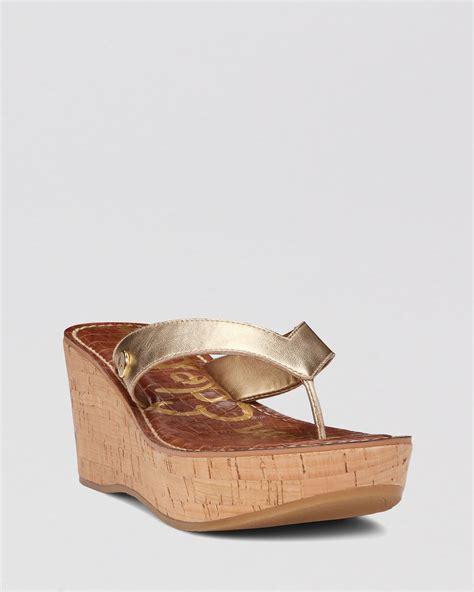 gold sam edelman sandals sam edelman platform wedge sandals romy in gold