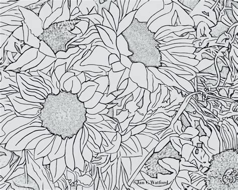town coloring book stress relieving coloring pages coloring book for relaxation volume 4 books sunflowers 1 coloring pages coloring page printable