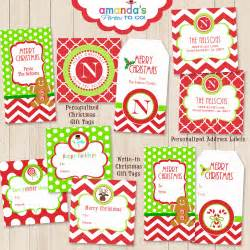 christmas gift tags printables personalized by