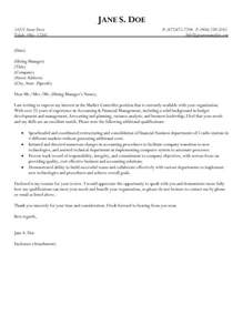 Small Business Controller Cover Letter by Market Controller Cover Letter