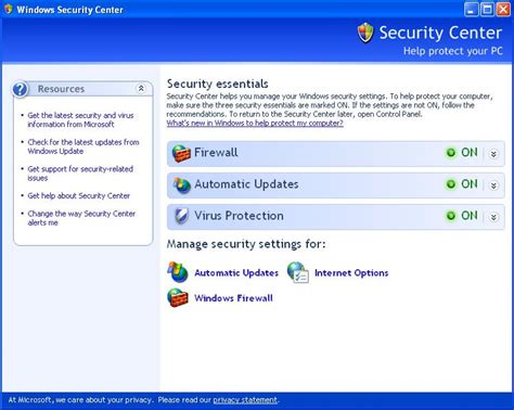 disable or turn windows xp security center permanently