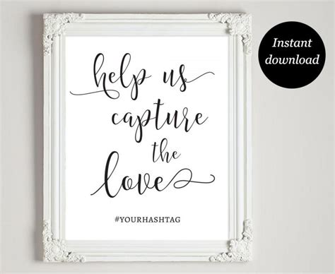 Wedding Hashtag Card Template by Wedding Instagram Hashtag Template Wedding Ideas