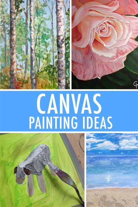 painting ideas canvas 5 canvas painting ideas for inspiration