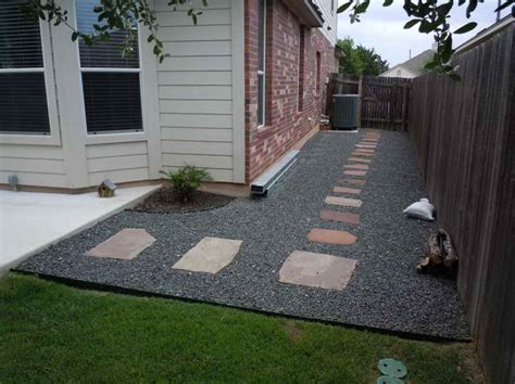 ideas backyard gravel ideas for landscaping pebble