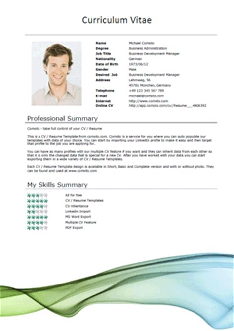 Resume Title Examples For Mba Freshers by 50 Free Microsoft Word Resume Templates For Download
