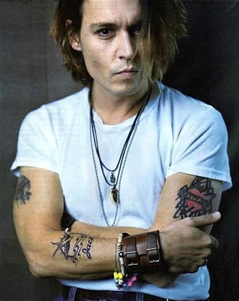 johnny tattoo pictures latest hollywood hottest wallpapers johnny depp tattoos