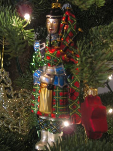 scottish piper christmas decoration happy scotland christmasy things happy tartan and ornaments