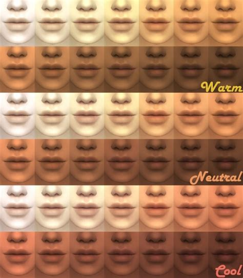 sims 4 cc skin colors maxis match skintones v2 by kitty25939 at mod the sims