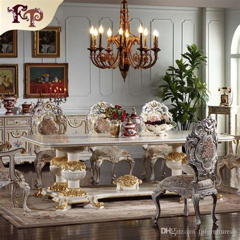 2017 european antique dining room furniture carved
