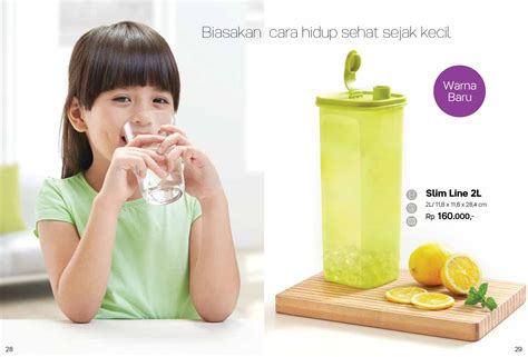 Tupperware Air Minum slimline 2l tupperware indonesia promo terbaru