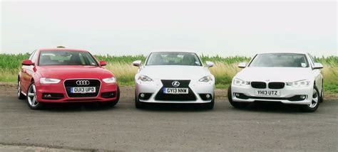 2013 bmw 320d vs 2014 lexus is300h comparison test