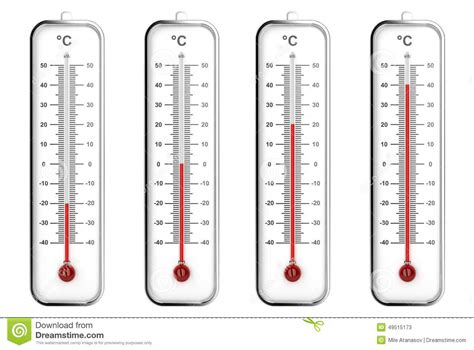 Termometer Fahrenheit indoor thermometers in celsius scale stock illustration