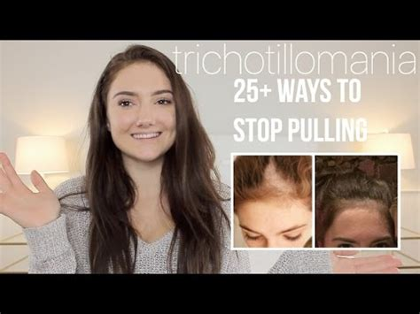 pulling medium black hair back how to stop pulling your hair out trichotillomania youtube