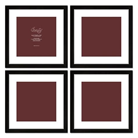 1 inch picture mat craig frames 1wb3bk 16 by 16 inch black picture frame