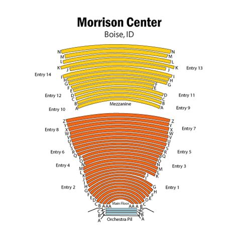 morrison center seating chart of green gables march 15 tickets boise morrison