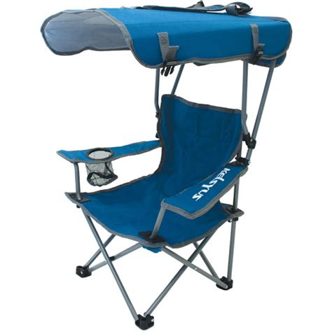 Lawn Chairs With Canopy by Kelsyus Canopy Chair Blue Gray Walmart