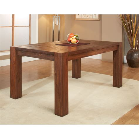 Extending Wooden Dining Table Modus Meadow Solid Wood Extending Dining Table Brick Brown Dining Tables At Hayneedle