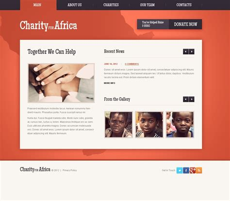 charity website template 40277