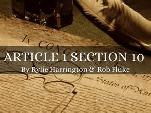 article 1 section 9 clause 1 article 1 section 10 article 5 6 by rylie harrington