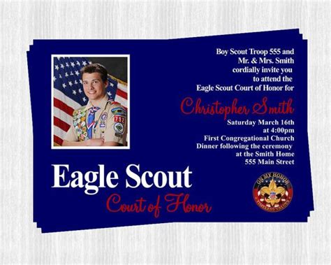 eagle scout invitations court of honor