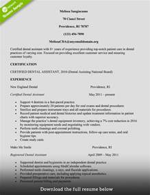 how to build a great dental assistant resume exles