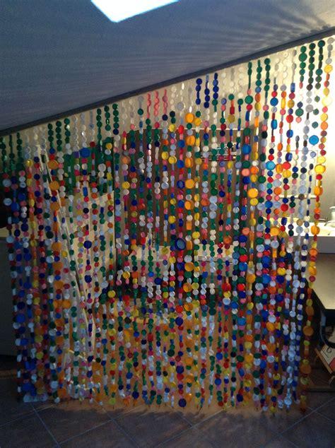 tenda separe tenda separ 233 con tappi di plastica idee