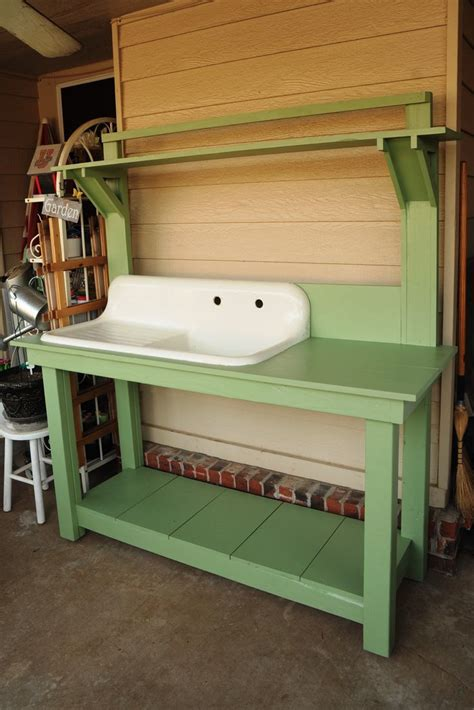 outdoor potting bench with sink pin by pamela steiner on potting benches and outdoor sinks pinterest