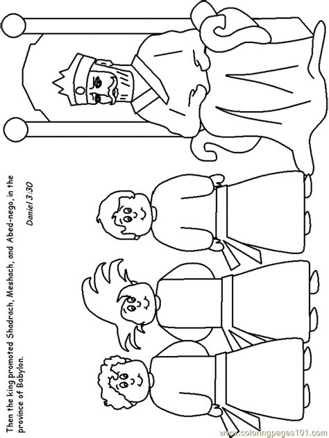 Shadrach Meshach And Abednego Coloring Pages shadrach meshach and abednego coloring page az coloring pages