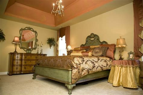 tuscan bedroom ideas tuscan coral and green master bedroom mediterranean