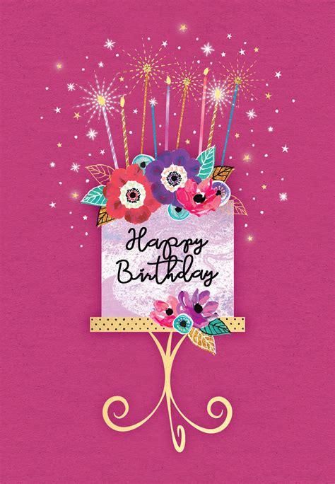 sparkle celebration  birthday card  island