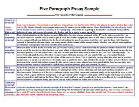 Five Paragraph Essay by Five Paragraph Essay Sle