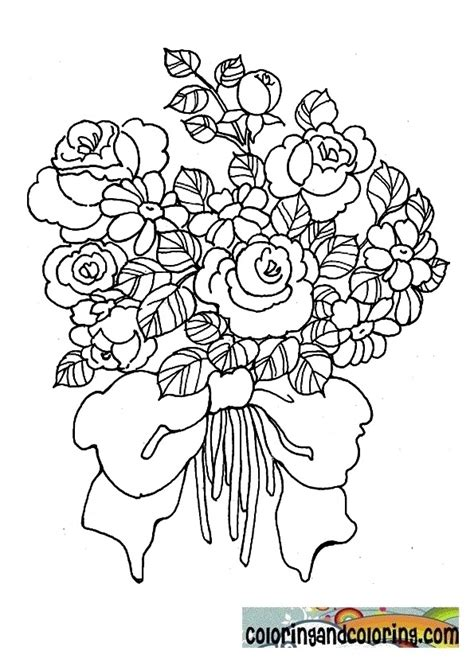 free coloring pages of bouquet of flowers