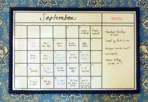Calendar White Board Diy Whiteboard Calendar Tutorial Via Green