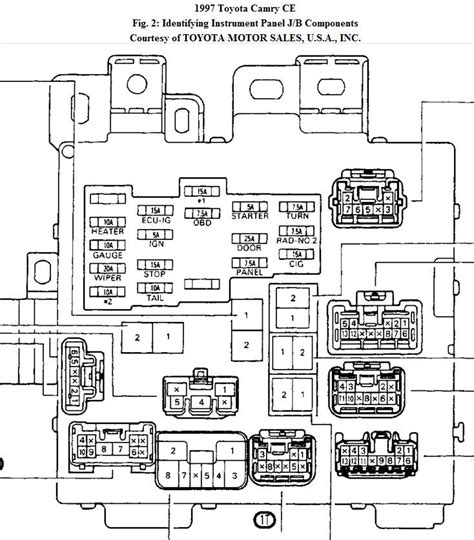 2002 toyota camry wiring diagrams toyota ignition switch