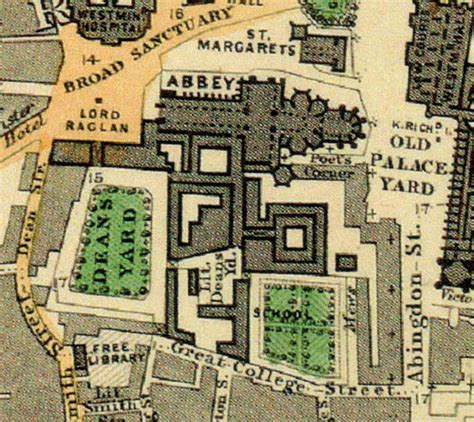 Palace Interior by Westminster Abbey In 1862 Is Seen To The South Of
