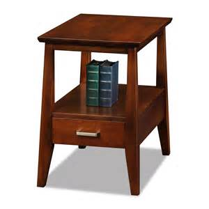 leick 10406 delton storage chairside end table with drawer