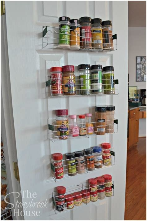 Side Cabinet Spice Rack 10 Places In Your Kitchen To Install A Spice Rack