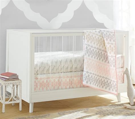 Acrylic Baby Crib Sloan Acrylic Convertible Crib Pottery Barn