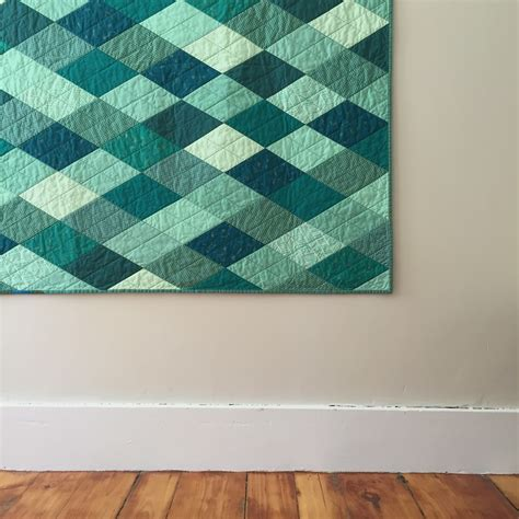 Teal Quilts by Salty Oat Modern Handmade Quilts Teal Quilt