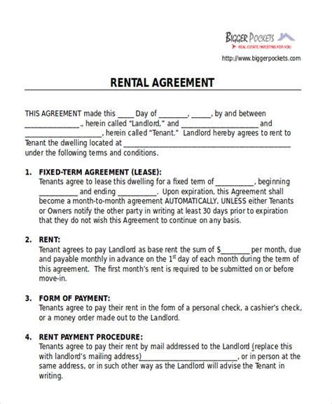 room for rent agreement template 28 images room rental
