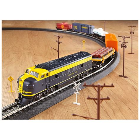 over 150 pc rolling rails electric train set 294234