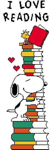 libro reading training love items similar to snoopy i love reading cross stitch pattern on etsy