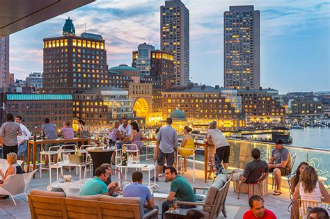 Www Open Table by Lookout Rooftop Bar In Boston Ma The Envoy Hotel Dining