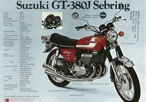 1972 Suzuki Gt380 1972 Suzuki Gt380j Sebring Classic Japanese Motorcycles