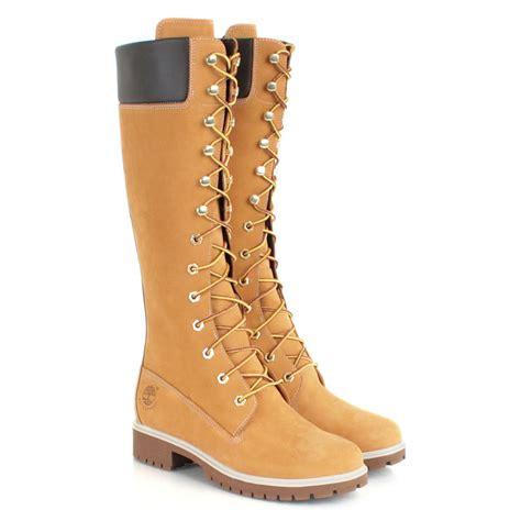 womans boots timberland wheat 14 inch premium waterproof s boot