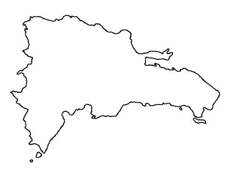 printable country shapes dominican republic pattern use the printable outline for