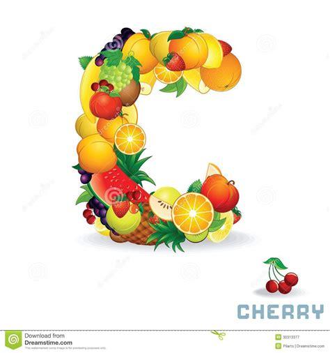 p fruit 4 letters alfabeto di vettore da frutta lettera c immagine stock