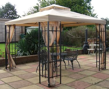 metal gazebo with curtains buckingham garden party metal framed gazebo tent