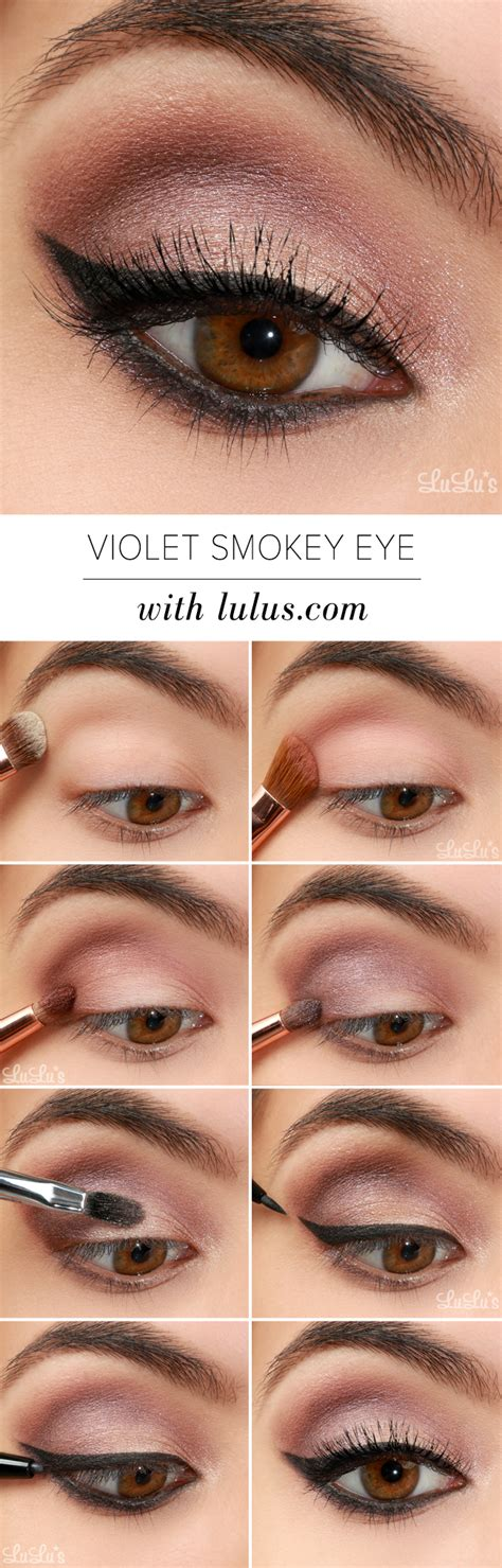 tutorial makeup lulu lulu s how to violet smokey eye makeup tutorial lulus